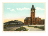 Train Depot, Milwaukee, Wisconsin Prints