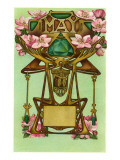 Art Nouveau May, Gemini Poster