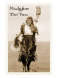 Howdy from West Texas, Rodeo Woman Posters