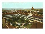 Patio of Hotel del Coronado, San Diego, California Poster