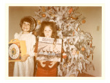 Girls at Christmas with Osmonds Album Print