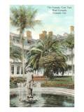 Courtyard, Hotel del Coronado, San Diego, California Affiches