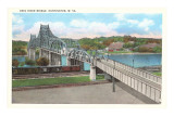 Ohio River Bridge, Huntington, West Virginia Posters