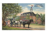 Carroza colonial, Williamsburg, Virginia Posters