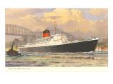 Cunard Saxonia, Ocean Liner Art