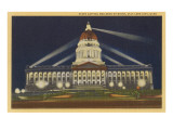 Night, State Capitol, Salt Lake City, Utah Print