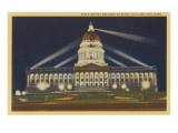 Night, State Capitol, Salt Lake City, Utah Poster