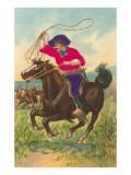 Colorful Rider with Lasso Kunstdrucke