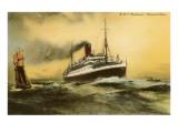 Cunard Andania, Ocean Liner Poster