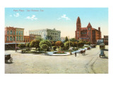 Main Plaza, San Antonio, Texas Poster