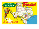 Greetings from Midland, Texas Prints