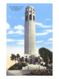 Coit Memorial Tower, Telegraph Hill, San Francisco, California Prints