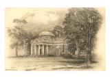 Engraving of Monticello, Charlottesville, Virginia Prints