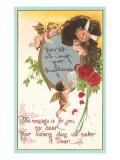 Valentine Message in Mirror Art