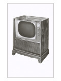 Console Television Set Posters
