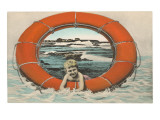Little Boy in Life Saver Posters
