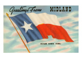 Greetings from Midland, Texas Print