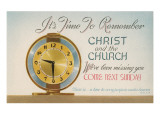 Church Reminder, Alarm Clock Posters