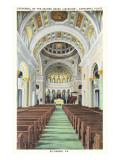 Interior of Cathedral, Richmond, Virginia Print