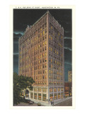 C and O Building by Night, Huntington, West Virginia Posters