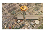 Space Needle from Above, Seattle, Washington Prints