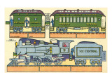 Cut-out Model of Train Prints