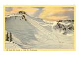 Ski Trails, Mt. Baker, Washington Print