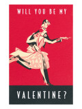 Will You Be My Valentine, Dancing Couple Poster