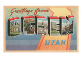 Greetings from Ogden, Utah Prints