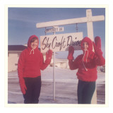 Young Girls in Winter Gear on Snowcroft Drive Giclee Print