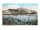 Beach at Galveston, Texas Poster