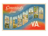 Greetings from Richmond, Virginia Print