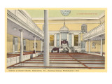 Interior, Christ Church, Alexandria, Virginia Prints