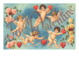 To My Valentine, Cavorting Cupids Prints