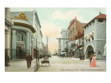 West Commerce Street, San Antonio, Texas Lámina giclée premium