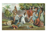 Pocahontas Saving John Smith, Illustration, Virginia Print