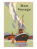 Art Deco Ocean Liner, Bon Voyage Posters