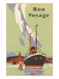 Art Deco Ocean Liner, Bon Voyage Prints