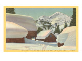 Cabins in Snow, Brighton Utah Posters
