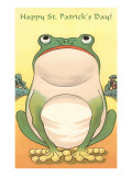 Frog, Happy St. Patrick's Day Prints