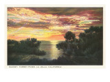 Sunset, Torrey Pines, San Diego County, California Prints