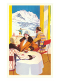 Flappers at Ski Resort Posters