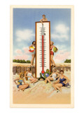 Bathing Beauties with Thermometer Art