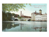 Globe Bridge over Blackstone River, Woonsocket, Rhode Island Prints