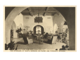 Interior, Biltmore Hotel, Santa Barbara, California Prints