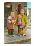 Children in Chinatown, San Francisco, California Prints