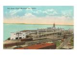Municipal Pier, Seattle, Washington Posters