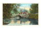 Bridge across Central Brook, Manchester, Vermont Prints