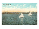 Yachts off San Diego, California Prints