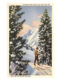 Skier at Alta, Utah Posters